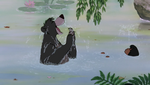 Baloo and Mowgli In Water
