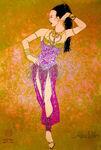 Aladdin Broadway Costume Concept Art Harem Girl
