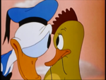 Donald spots the bird who messed up the car!