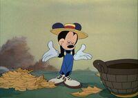 Mickey shrugs