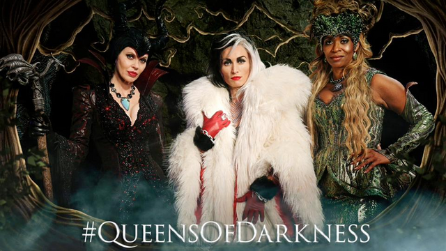 File:Once Upon a Time - Maleficent, Cruella De Vil and Ursula - Queens of Darkness.png