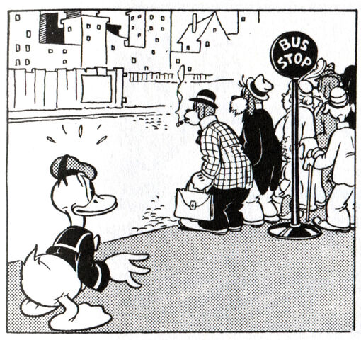File:Donald with a bus stop sign.jpeg