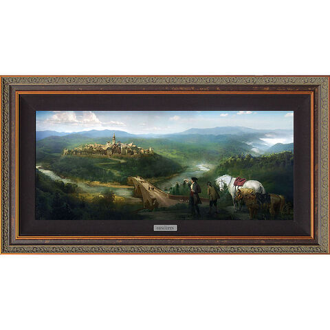 File:''Gaston and LeFou's Arrival'' Limited Edition Giclée - Beauty and the Beast - Live Action Film.jpg