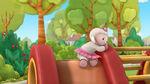 Lambie on the slide