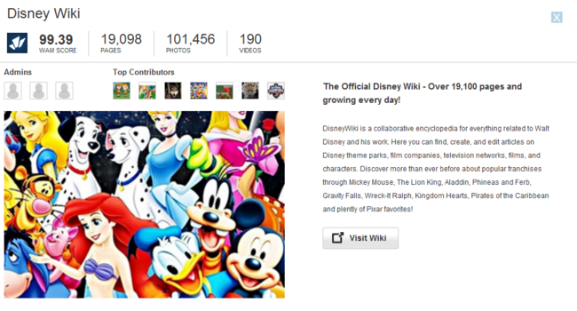 Disney Wiki Promotion Update.