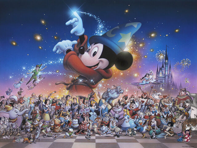 File:Mickey's Party (Sorcerer Mickey and other Disney characters).jpg