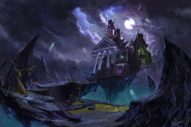 File:Epic Mickey Lonesome Manor Concept Art.jpg