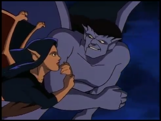 File:Goliath & Elisa (Gargoyles) - The Mirror.png