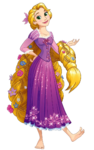 Flower haired Rapunzel