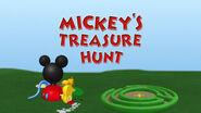 Mickey's treasure hunt title