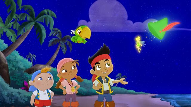 File:Jake&crew with Tinker Bell-Battle for the book.jpg