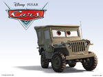 Cars Characters 11 Sarge