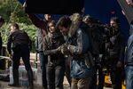 Felicity Jones on the set of Rogue One 3