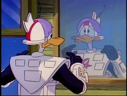Fenton wearing the Gizmosuit