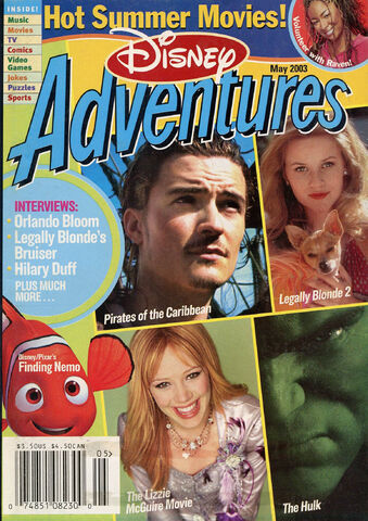 File:Disney Adventures Magazine cover May 2003 Summer Movies.jpg