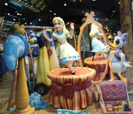 Disney Store Window Alice In Wonderland with Daisy Duck Alderwood Mall Lynnwood WA.