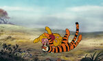 Winnie the Pooh and Piglet both got bounced by Tigger
