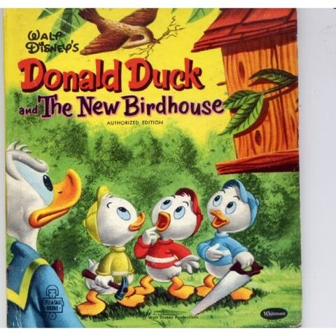 File:Donald duck and the new birdhouse.jpg