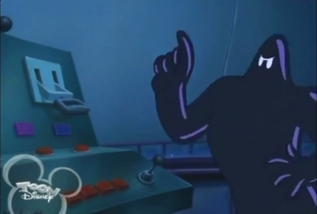 File:Mickey Foils the Phantom Blot - Blot is about to press a button.png
