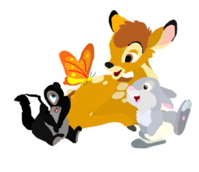 Bambi and friends toystoryfan artwork