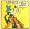 Goofy laughing comic
