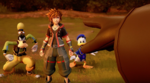 KH3 - Sora, Donald and Goofy confronted by Xemnas