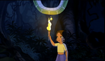 Shanti burns Kaa's tail
