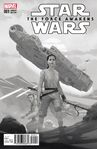 Star Wars The Force Awakens 1 Ribic Sketch Variant