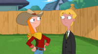 Candace dressed up like a cowboy