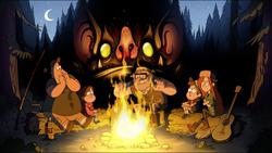 Fire bat monster gravityfalls