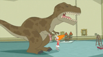 Candace bumps into T-Rex