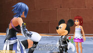 Aqua, Mickey, Kairi