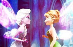 Anna and Elsa as Tink and Peri