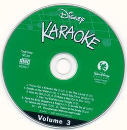 Disney karaoke volume 3 cd