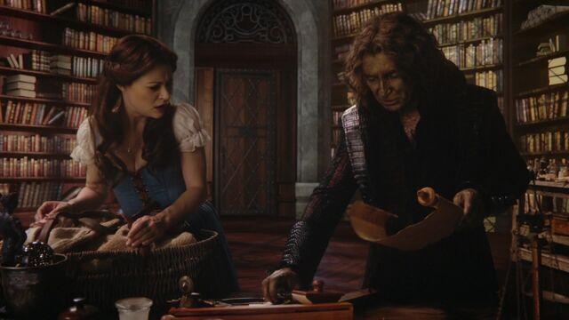 File:Once Upon a Time - 6x09 - Changelings - Belle and Rumplestiltskin.jpg