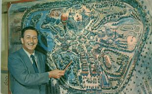 Walt disney disneyland map of park