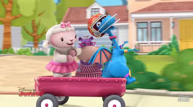 File:Lambie, hallie and stuffy dancing on the wagon.jpg