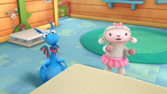 File:Lambie and stuffy singing time for your checkup.jpg