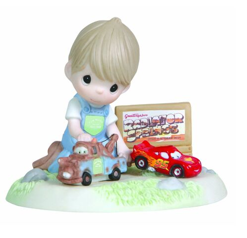 File:Precious Moments Disney Boy Playing Cars Mater and Lightning McQueen Figurine.jpg