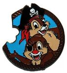 WDW - Mickey's Mystery Pin Machine Pirate Collection - Chip 'n' Dale