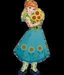 Anna Frozen Fever 2D render