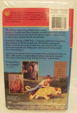 File:Walt Disney Film Classics - Old Yeller - 40th Anniversary Limited Edition - Rear.JPG