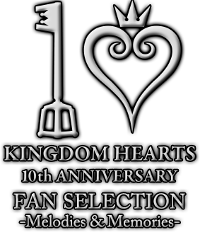 File:Kingdom Hearts 10th Anniversary Fan Selection -Melodies & Memories- Logo.png