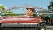 Walter driving