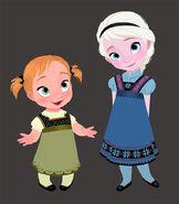 Elsa and Anna Children
