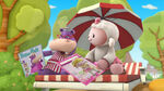 Hallie and lambie with magazines