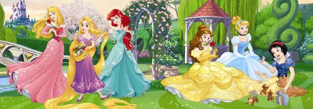 File:Disney Princesses in the garden.jpg