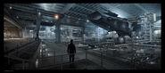 Helicarrier Hangar Concept Art