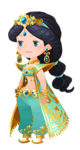Jasmine Costume Kingdom Hearts χ