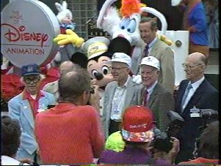 File:Mickey and roger at the opening of the magic of disney animation.jpg